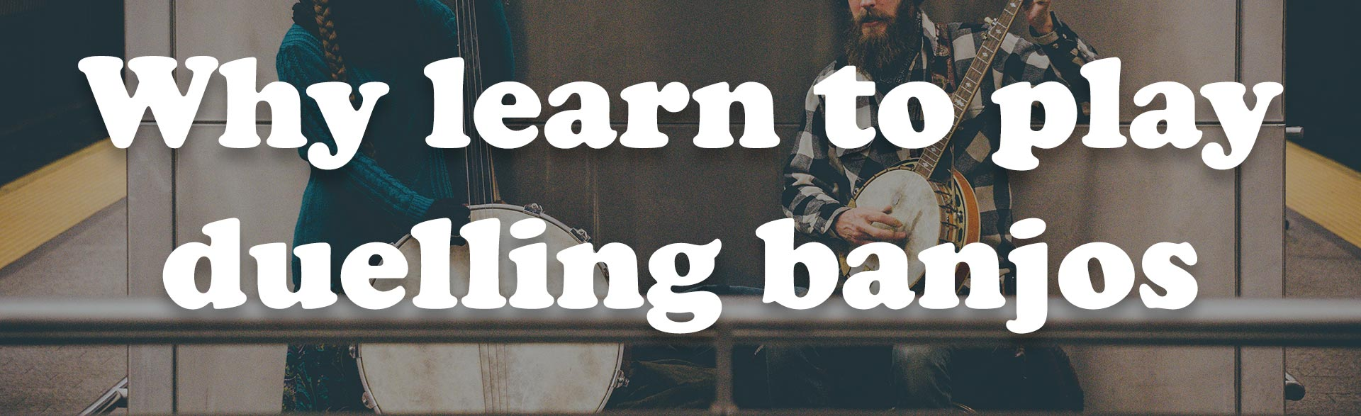 Post Thumbnail for the Post: Why learn to play duelling banjos Viewable at https://jofflowson.com/why-learn-duelling-banjos