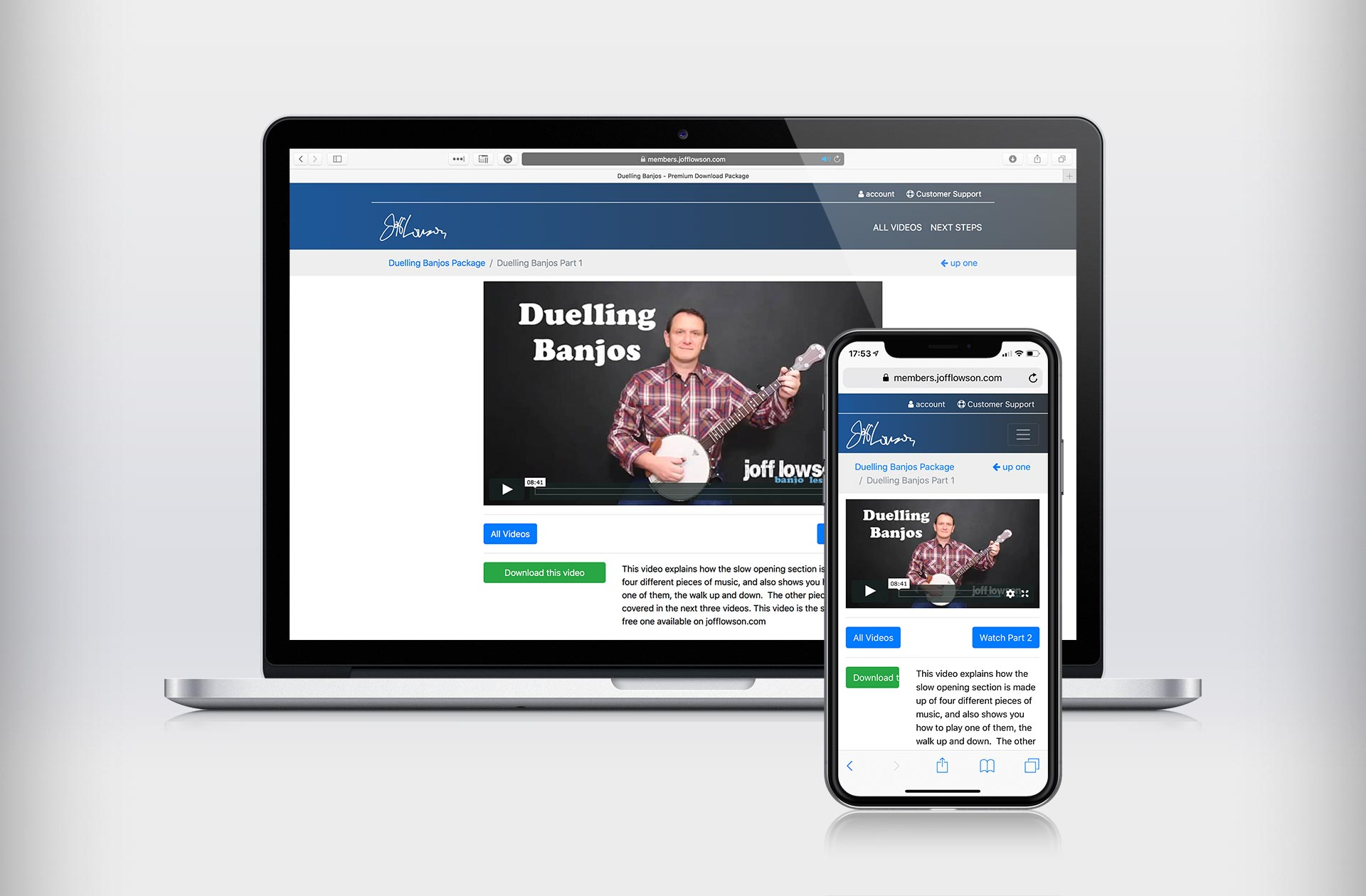 Learn to play Duelling Banjos with Joff Lowson